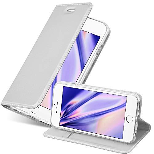 Cadorabo Funda Libro para Apple iPhone 6 Plus/iPhone 6S Plus en Classy Plateado – Cubierta Proteccíon con Cierre Magnético, Tarjetero y Función de Suporte – Etui Case Cover Carcasa