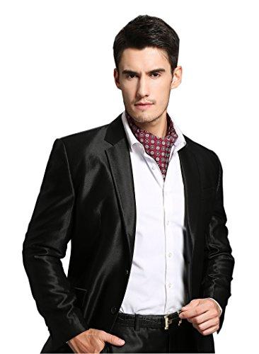 Prettystern - corbata hombres bufanda 100% seda salvaje de 2 capas para unirse Paisley Sr. paño - el color y el patrón de elección