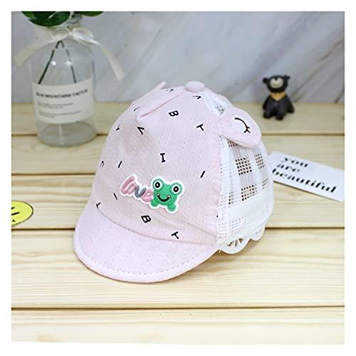 lliang Sombrero Historieta de Verano Recién Nacido Gorra de béisbol de algodón Chico Snapback Gorras de Sol de Malla Ajustable para niña (Traje para 0-6 Meses bebés) (Color : Pink, Size : One Size)