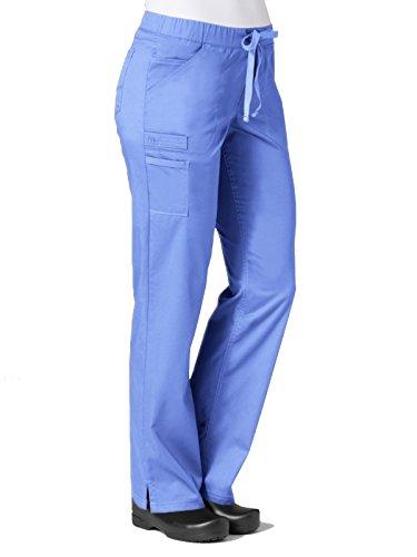 Maevn Women's PrimaFlex Inner Beauty Straight Leg Pant(Ceil Blue, Large)
