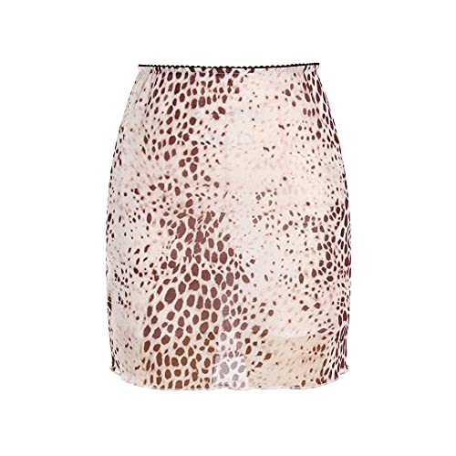 ERTYUIO Women's Sports Skirts High Waist Fashion Streetwear Clothing-B_L