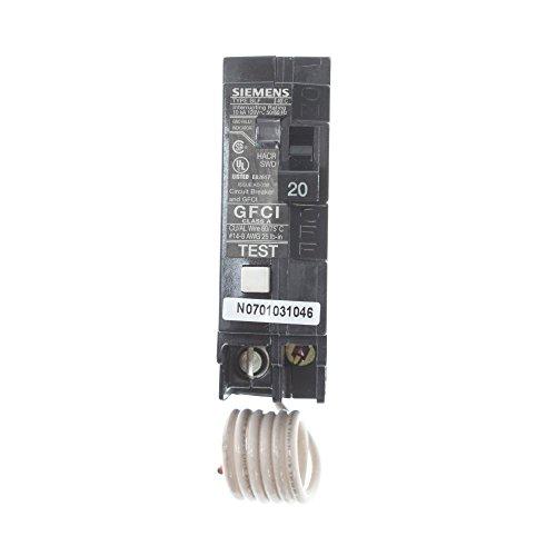 Siemens BF120 20-Amp Single Pole 120-Volt10KAIC Ground Fault Circuit interrupter