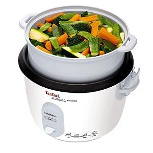 Tefal Reiskocher RK1011   Voreingestellte Kochprogramme   10 Tassen Kapazität (5L)   Automatische Warmhaltefunktion   Manuelle Anpassungen   Perfekt Gegarter Reis   Dampfkorb Inklusive   700W
