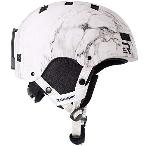 Retrospec Traverse H1 2-in-1 Convertible Helmet with 10 Vents, Matte Carrara, Medium (55-59cm)