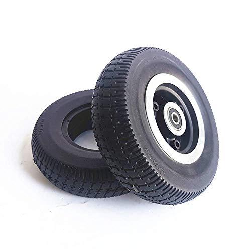 Neumático de Scooter eléctrico, 6X2 Neumático sólido a Prueba de explosiones Patinete eléctrico de Rueda Completa Antideslizante y Resistente al Desgaste de 6 Pulgadas, 8 Mm, 10 Mm