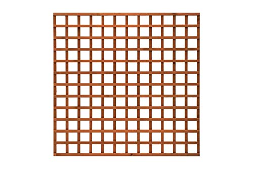 Total Sheds 6x2 Pack Of x5 (1.83m x 0.60m) 6ft x 2ft Wooden Square Trellis Fence Panels