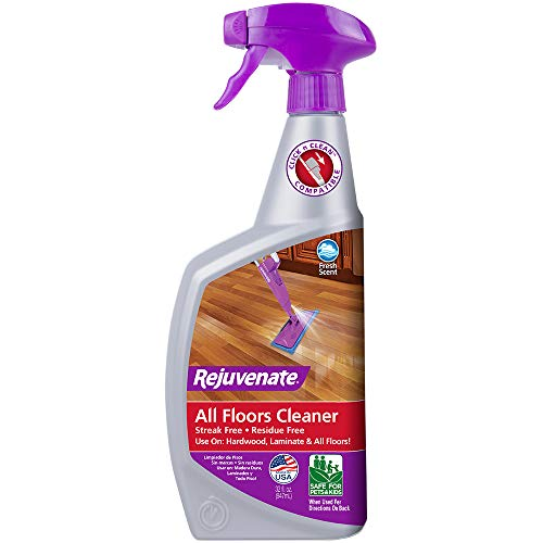 Rejuvenate High Performance All-Floors and Hardwood No Bucket Needed Floor Cleaner Powerful PH Balanced Shine with Shine Booster Technology Low VOC Best in Class Products 32oz