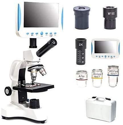 HYCQ 5000 x HD Sonder monokulare Mikroskop mit LCD, befestigen Mikroskop mit USB, beobachteten Samen, Milben, Wissenschaft, Labor, Aquakultur, Bluttropfendetektor