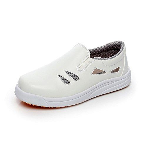 Chaussure de Cuisine Protection d'eau et d'huile Chaussure de Travail Respirante pour Homme Femme