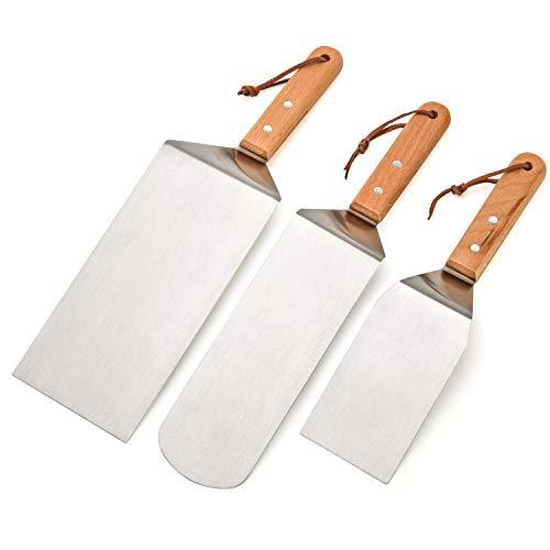 41TOc7Uld0L. SL500  - Stanbroil Grill-Zubehör Spatel Werkzeuge für Blackstone und Camp Chef Grill, Set von 3 Edelstahl-Grill-Werkzeugen für Blackstone und Camp Chef Flat Top BBQ Kochen Camping
