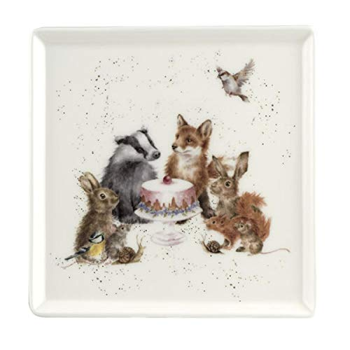 Wrendale Designs Woodland Party quadratischer Teller