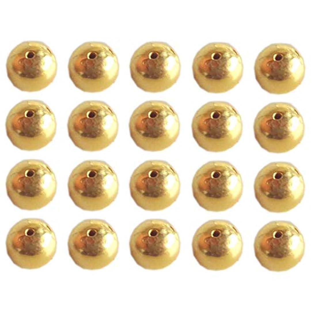 音声学手荷物計画Satfale Jewellers 平野手作り小さなビーズラウンド固体22Kイエロー微2mm250枚 ゴールド