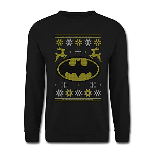 Batman DC Comics Ugly Christmas Noël Sweat-Shirt Unisexe, M, Noir