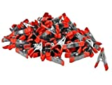 Wideskall Mini Metal Spring Clamps w/ Red Rubber Tips Clips (Pack of 60) Product Name...