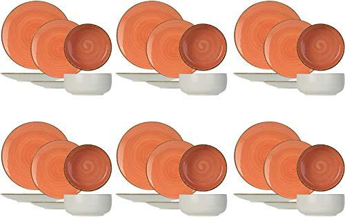 Cosy & Trendy 3678099SRP - Vajilla (18 piezas), color terracota