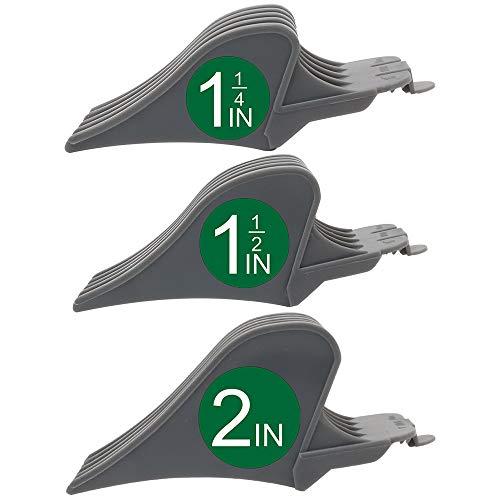 Professional Hair Clipper Combs Guides, Hair Clipper Guards 1 & 1/4' 1 & 1/2' 2', Mega NO.16 NO.12 NO.10 fits for most Wahl Clippers (NO.10+NO.12+NO.16, Gray)