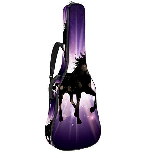 Funda acolchada para guitarra eléctrica, color morado