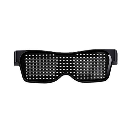 Vasos De Luz LED Bluetooth, Hombres Mujeres Intermitente Gafas De Sol Control...