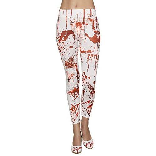Boland 87862 - Leggings Bloody, Bianco/Rosso, Taglia Unica