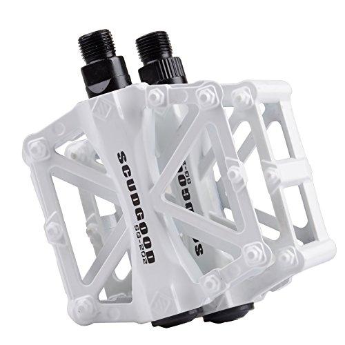 Mountain Bike Pedali in Lega di Alluminio Piattaforma per Strada BMX Biciclette Fixed Gear 9/16 Bianco