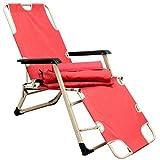 AMANKA Faltbare Gartenliege ca. 178cm inkl. Auflage Verstellbare Campingliege Liegestuhl mit Nackenstütze Klappliege Stahlrahmen Belastbarkeit max. 120kg