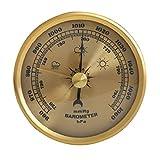 LIXUDECO Indicador de presión Barómetro doméstico Calibre de presión Estación meteorológica Colgante de Pared Termómetro multifunción atmosférico Higrómetro (Color : White)