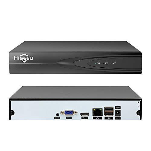 Adaskala Supporto per videoregistratore di rete Full HD 1080P NVR a 16 canali Canale P2P Motion Detection per sistema di sorveglianza di sicurezza CCTV