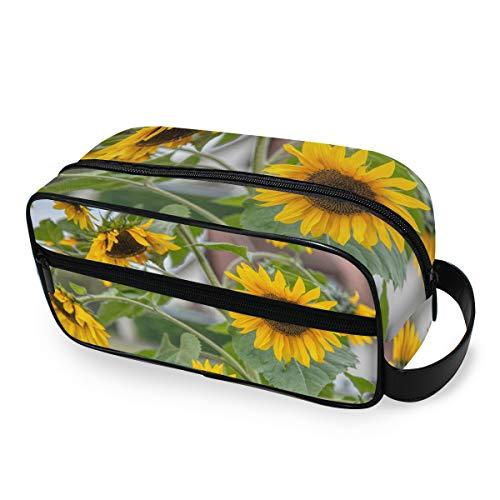 Sunflower Blossom Trousse de Maquillage Portable Multifonction pour Femme et Fille