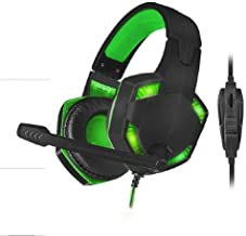 X-Shooter Gaming USB Headset w/Mic - Supports Xbox, PS4 & Switch - Green