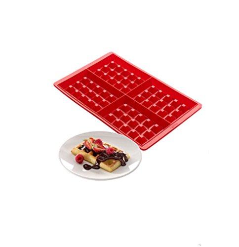 CAOLATOR DIY gaufre/Cookie/Gâteau de Kraft Moule à chocolat pâtisserie Silicone forme spécifique outil cuisine cuisson en silicone