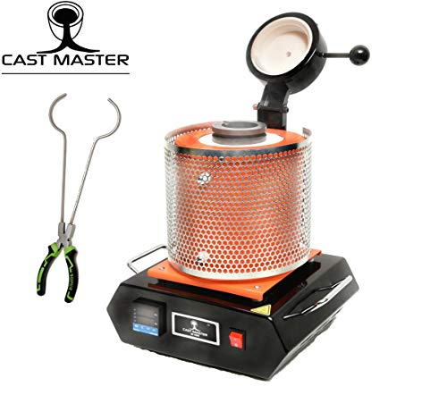 Cast Masters GG 3000 3 KG 1800 Watt 2000 Degrees Crucible Tongs Smelting Kiln Gold Silver Recycle Scrap Refining Jewelry Casting Kit Electronic Furnace