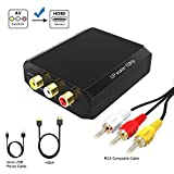 RCA to HDMI Converter, Wenter 1080P AV to HDMI Converter/Composite to HDMI Converter with HDMI & RCA Cable for Xbox/PS2/Wii/VHS/VCR/DVD to Play on HDMI Digital TV