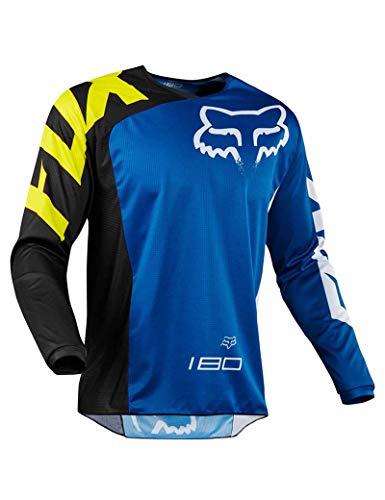 FMGJMY Jersey Ciclismo al Aire Libre Deportes Traje de Montar en Bicicleta Camisa de Manga Larga Servicio de Motocicletas Todoterreno Camiseta de Manga Larga Traje de Descenso Todoterreno
