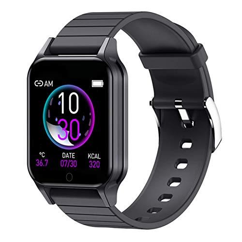 hgfhgf Smart Watch, Rastreador De Fitness Bluetooth De 1,3 Pulgadas De Los Hombres, IP67 Impermeable/Ritmo Cardíaco/Monitor De Presión Arterial, Pulsera Deportiva para Android iOS,A