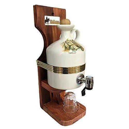 Home Decor And Liquor Dispenser Made of Ceramic with Horse Image