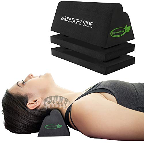 Cervical Orthotic Traction Block | Firm | Spinal & Neck Alignment | 3-Height Adjustable Design