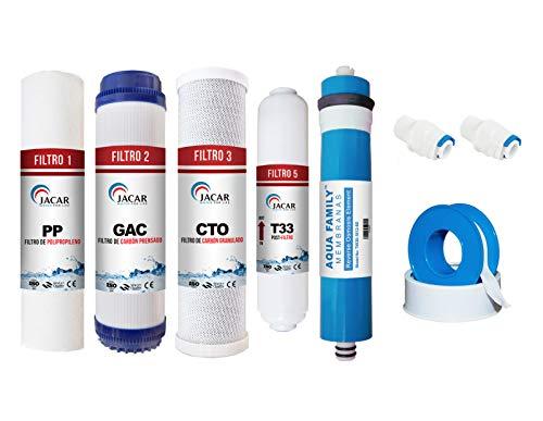 JACAR - Ahorro Filtros de Osmosis inversa 5 etapas Purificadores de Agua...