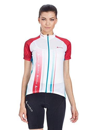 Odlo Fahrradtrikot Telegraphe pink/weiß XXL
