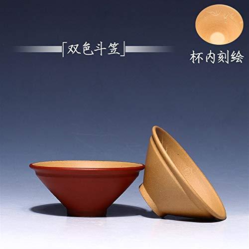 Ore Purple Clay Tea Cup Cup Color Colour Hats Humble Bowl Tea Sets (Color : Monochrome)