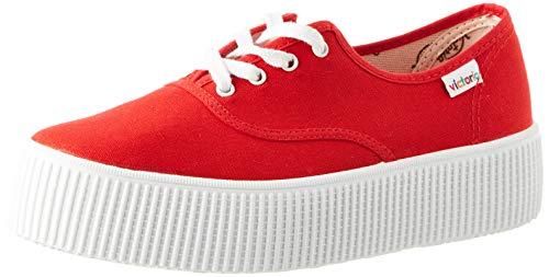 Victoria 1915 Doble Lona, Zapatillas Mujer, Rojo (Rojo 40), 42 EU