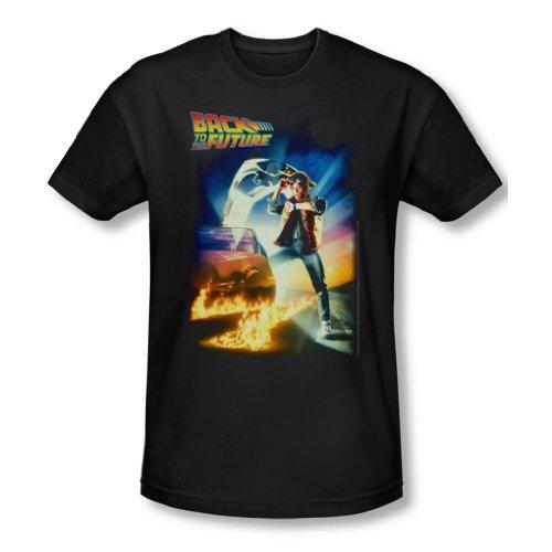 Back To The Future - Hombre Camiseta de Futbol En Negro, X-Large, Black