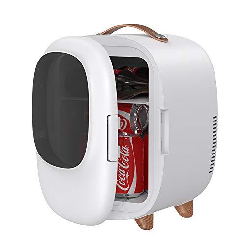 TMXK Mini Portátil Compacto Personal Frigorífico Cools Y Calienta, 8L Coche Congelador para Coches, Casas, Oficinas, Dormitorios Y Uso, Blanca