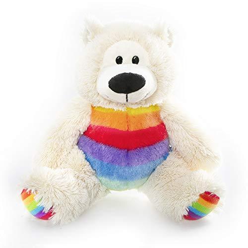 Plushland Rainbow Plush Teddy Bear – Sophie- Plush Bear for Kids- Multicolor-12 inches