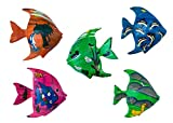 Imanes de pescado – imanes de madera pintados a mano, artículos restantes y segunda elección artículo en el juego, imán para nevera, imán de oficina, imán decorativo