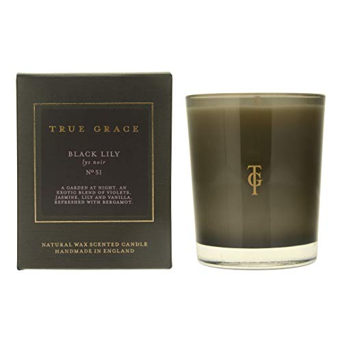 True Grace - Candela profumata Manor Black Lily, 190 g