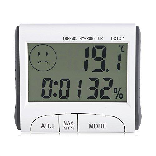Garosa Higrómetro Digital LCD, Mini Termómetro para Interiores y Exteriores con Indicador de Humedad de Temperatura o Sala de Bebé En La Oficina En Casa