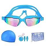 RKRZLB Keine Auslaufende Anti-Beschlag UV-Schutzbrille,Auslaufsichere Schnorchelbrille,...