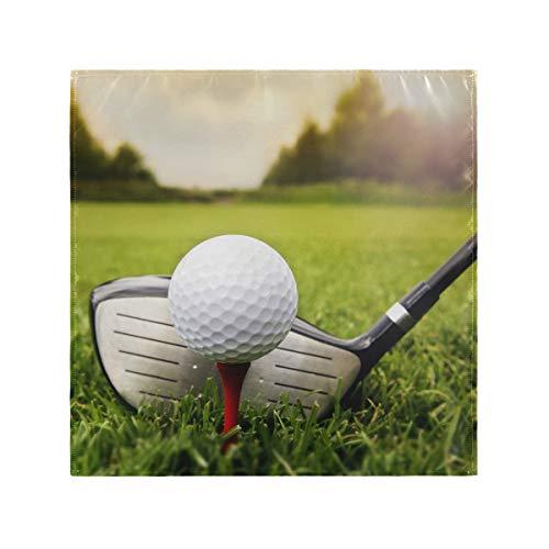 FELIZM Tovaglioli di stoffa Set di 4 Palle da Golf In Grassland Tovaglioli Riutilizzabili per Matrimonio, Hotel, Casa Da Pranzo, 20 x 20 cm