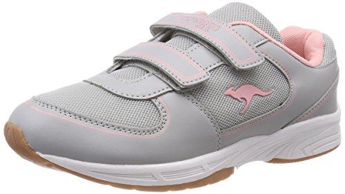 KangaROOS Sinu V Unisex-Kinder Sneaker, Gelb (Vapor Grey/Frost Pink 2063), 32 EU