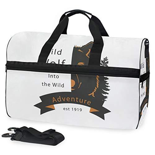 FANTAZIO - Bolsa de deporte de media cara con bolsa de viaje, ligera, resistente al agua y al desgarro